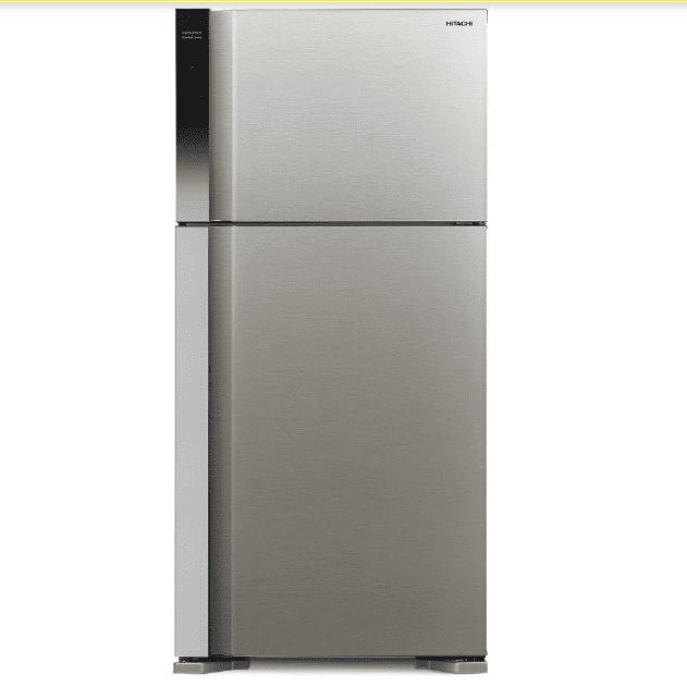 מקרר היטאצ'י מקפיא עליון 489 ליטר R-V540PRS7(BSL) כסוף HITACHI