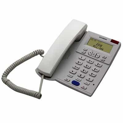 טלפון משרדי יונדאי HDT-2600W דקורטיבי לבן HYUNDAI