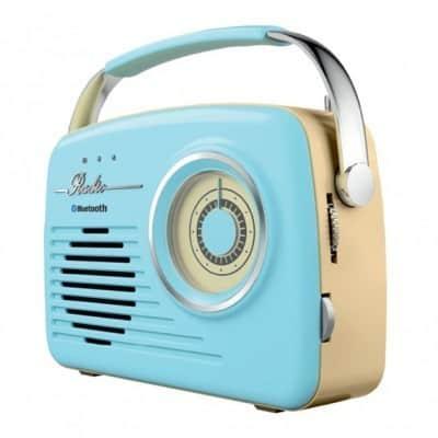 רדיו דיגיטלי כחול Hyundai יונדאי VINTAGE דגם: HABB-110B