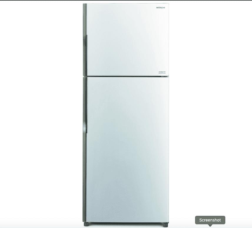 מקרר היטאצ'י מקפיא עליון 395 ליטר HITACHI לבן דגם: RV470PRS3(PWH)