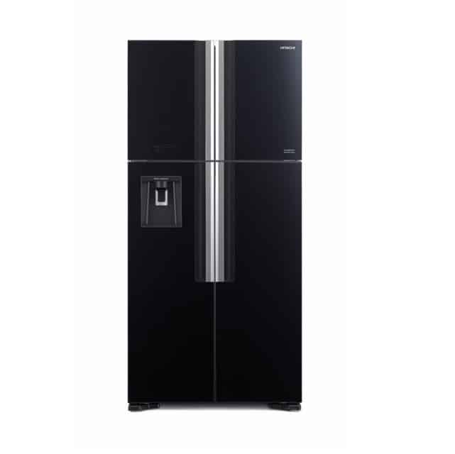 מקרר היטאצ'י 586 ליטר 4 דלתות זכוכית שחורה HITACHI R-W660PRS7(GBK)