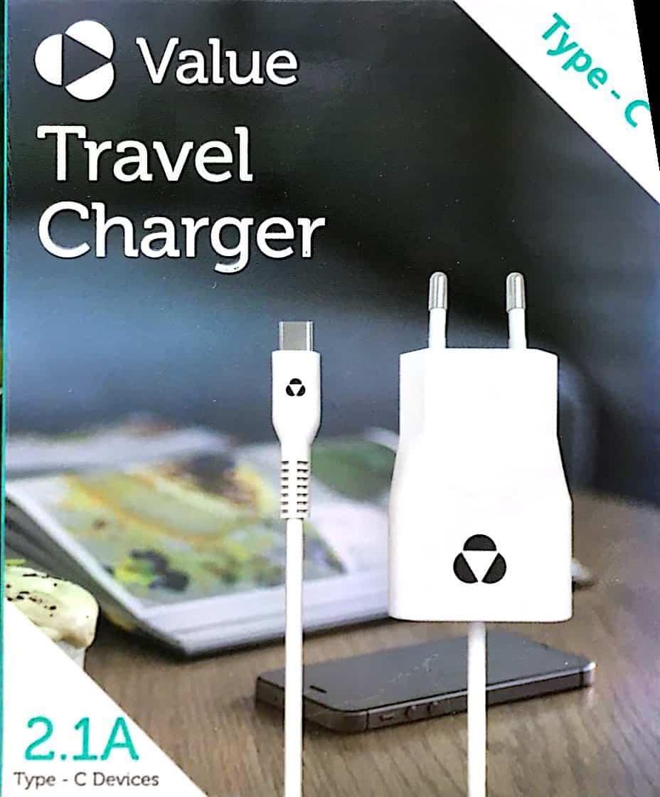 מטען קיר Value Travel Charger Type-C 2.1A