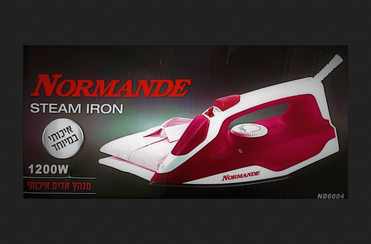 מגהץ הדים חשמלי אדום Normande נורמנדה ND-600 1200W