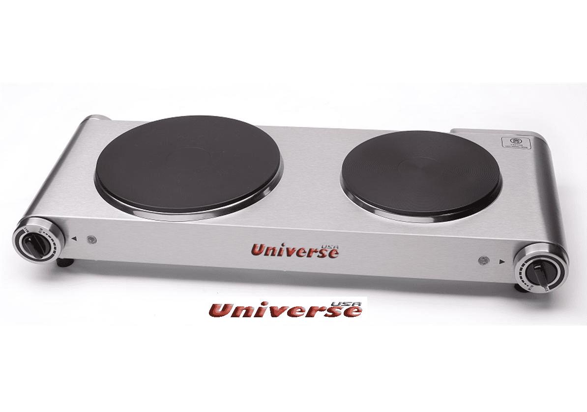 פלטת בישול כפולה לבן UNIVERSE NRI-3201