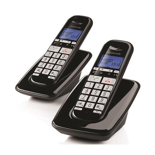 טלפון אלחוטי + שלוחה בעברית עם דיבורית Motorola S3002