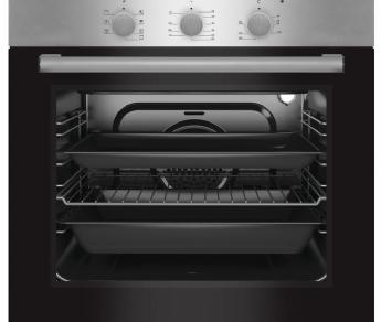 תנור אפיה מפואר שחור בגימור נירוסטה LUXOR דגם LX606IX